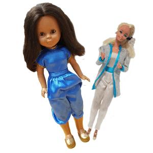 muñecas Barbie y Nancy